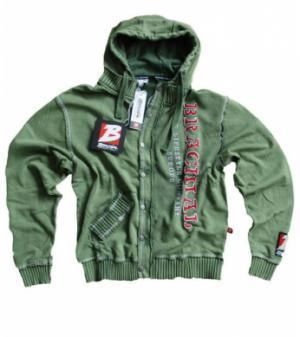 "Brachial Zip-Hoody ""Solid"" military green"